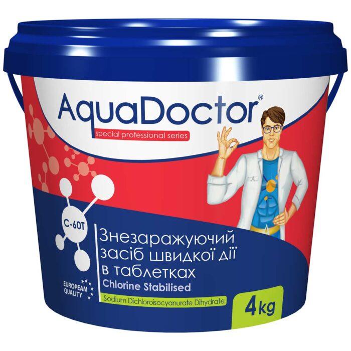 Хлор для басейну швидкої дії AquaDoctor C-60T (4 кг)
