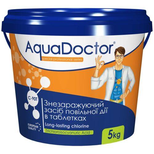 Хлор для бассейна длительного действия AquaDoctor C-90T