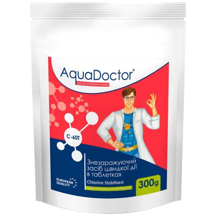Хлор для бассейна быстрого действия AquaDoctor C-60T (0.3 кг)