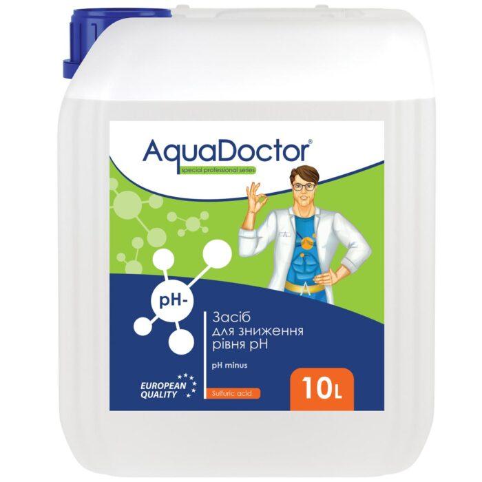Рідкий засіб для зниження рН AquaDoctor pH Minus (Сірчана 35%) 10 л.