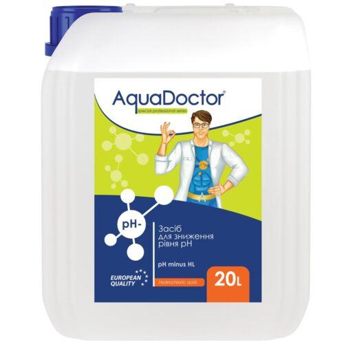 Жидкое средство для снижения pH воды - AquaDoctor pH Minus HL (Соляная 14%)